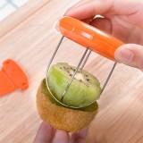 新款 猕猴桃去皮器 奇异果专用分割器 水果去皮器 黄色