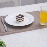 PVC餐垫 双回字框餐垫 银灰色