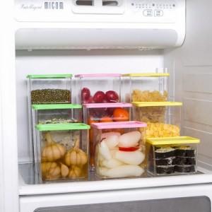 可叠加杂粮储物罐 有盖密封罐 食品保鲜盒615ml 粉色 200/件