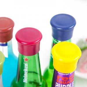糖果色硅胶保鲜瓶盖 啤酒调味瓶塞  单个装 绿色