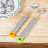 厨房不锈钢挖球器果球勺 水果拼盘工具冰激凌勺 西瓜勺 绿色