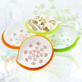 糖果色创意多用沥水饺子盘(大)随机发色 HF-366