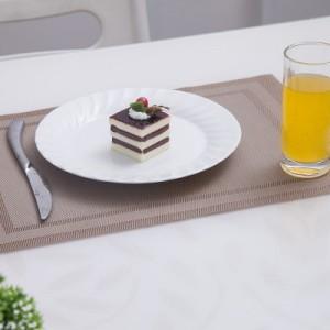 PVC餐垫 双回字框餐垫 咖啡色