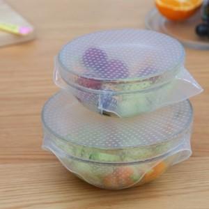 食品级硅胶保鲜膜 可重复使用密封万能碗盖 保鲜盖