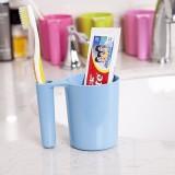 新款洗漱杯纯色长手柄可装牙刷杯子(8637) 蓝色