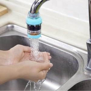 麦饭石磁化净水器家用厨房自来水过滤器 浴室水龙头滤水器 蓝色 240个/箱