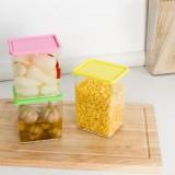 可叠加杂粮储物罐 有盖密封罐 食品保鲜盒1640ml 黄色 50/件