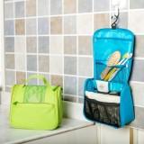 旅行多功能洗漱包 便携防水牛津布收纳包 粉色