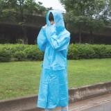 韩国时尚PVC长衫雨披  纯色旅行休闲长衫雨衣(非一次性加厚款) 紫色(L)