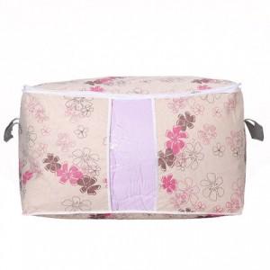 印花大号加宽棉被收纳袋 衣物储存整理袋 紫荆花