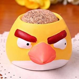 办公室迷你植物盆栽 青草种植栽培草头娃娃愤怒小鸟-黄鸟 216个一箱