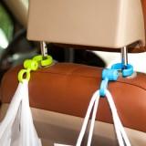 多功能车载座椅可自由折叠挂钩S钩 创意汽车椅背可旋转挂钩俩个装 桔色
