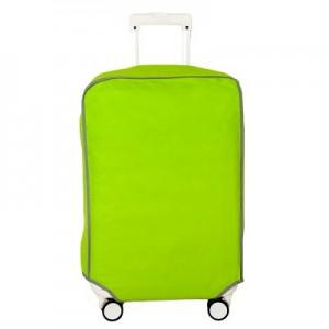 纯色压花无纺布拉杆箱保护套 旅行箱防尘罩 行李箱套(绿色)22寸