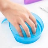 美甲必备工具 清洁指甲专用泡手碗 软化死皮护理碗 蓝色
