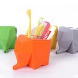创意大象厨卫收纳盒 厨房卫浴收纳架 桌面整理盒 黄色