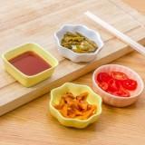 创意家居陶瓷调味碟 点心碟 日式小吃碟 酱料小碟子 四方调味碟 黄色
