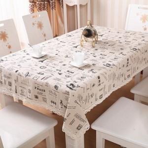 欧式棉麻蕾丝花边餐桌布 台布 茶几布 餐桌垫(大号130*180cm) 旅行家