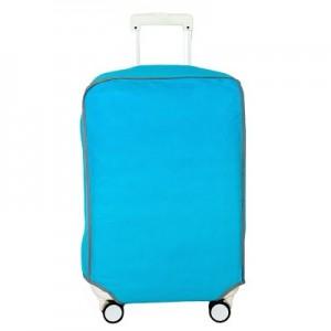 纯色压花无纺布拉杆箱保护套 旅行箱防尘罩 行李箱套(蓝色)22寸