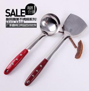 厨房工具 三钉不锈钢锅铲 炒菜铲 烹饪铲
