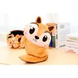 新款电热水袋充电暖宝  卡通毛绒插手暖宝宝 萌宠系列 松鼠(咖啡、黄随机)