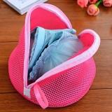 优质双层锥形文胸护洗袋 三角形内衣网袋 玫红