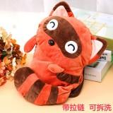新款电热水袋充电暖宝  卡通毛绒插手暖宝宝 萌宠系列 红浣熊
