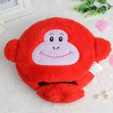 超萌加厚加大毛绒保暖鼠标垫 雪花珊瑚绒USB暖手鼠标垫 猿猴