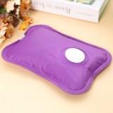 快勤牌 国标电热水袋 充电防爆斜纹布热水袋 紫色