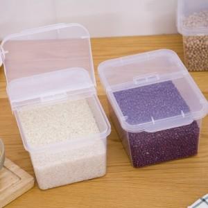 厨房食品级带盖米桶 杂粮储存盒 掀盖居家杂物收纳盒 4L YS-6128 粉色