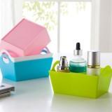 长方形糖果色桌面收纳盒 杂物整理盒杂物盒杂物零食收纳盒 粉色