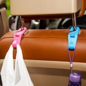 多功能车载座椅可自由折叠挂钩S钩 创意汽车椅背可旋转挂钩 TL506 蓝色