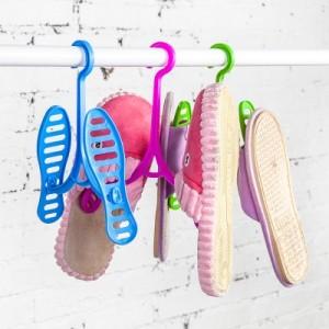 创意可拆卸式晒鞋架 晒鞋子挂钩 便携式挂鞋架晾鞋架 蓝色