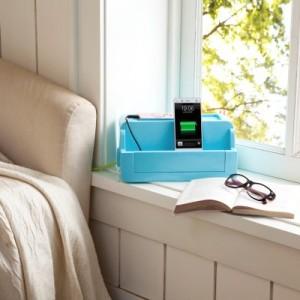 创意居家收纳多功能防漏电电源线插座收纳盒 桌面整理盒 绿色