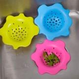 花形硅胶地漏 厨房水槽菜池过滤网 防堵塞浴室毛发过滤器 粉色