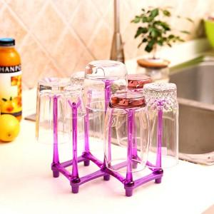 7杯位沥水杯架--紫色