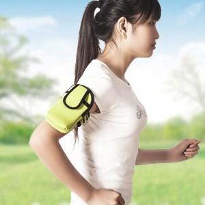 户外运动夜跑臂包手臂袋 男女便携跑步包手机腕包手机包 绿色