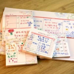 创意工作备忘可粘贴便签本 韩国可黏贴备忘录 大号桌面周计划本