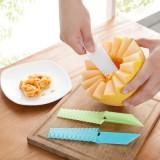 厨房必备创意波浪形蔬菜豆腐水果刀 切条器瓜果刨 切菜器 JY069 白色