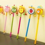 韩国文具创意儿童玩具卡通HB铅笔(拨浪鼓)
