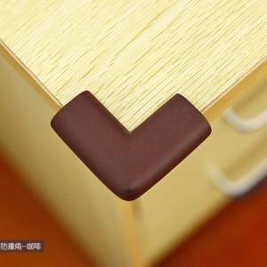 婴儿安全防撞角 桌椅保护角 宝宝防护用品 加厚L角 咖啡色 500个/箱