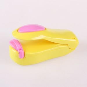 迷你封口机 塑料袋密封器 A款 PVC盒装 黄底座+粉盖(200个1箱)
