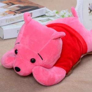 火爆新款 超大卡通电热水袋 防爆暖手宝 维尼熊 粉色