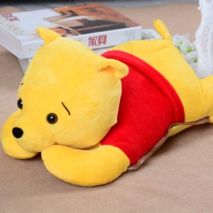火爆新款 超大卡通电热水袋 防爆暖手宝 维尼熊 黄色