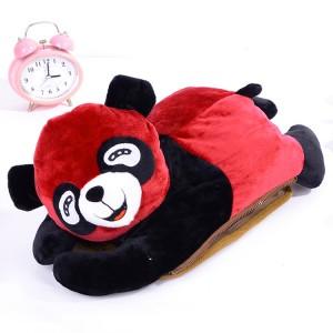 超可爱趴趴熊可拆洗双插手热水袋/电暖袋 大红色