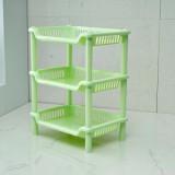 卫浴三层长方形置物架 塑料收纳层架  储物架  绿色 64个/箱