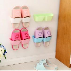 客厅卫浴挂壁式收纳架波浪分隔立体鞋架墙体层架 橙色 560一件