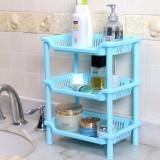卫浴三层长方形置物架 塑料收纳层架  储物架 蓝色 64个/箱