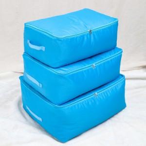 牛津布棉被收纳袋衣物整理袋储物袋软衣服收纳箱盒 中号 蓝色