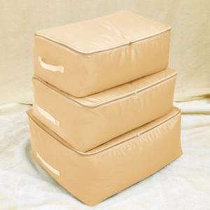 牛津布棉被收纳袋衣物整理袋储物袋软衣服收纳箱盒 中号 米色