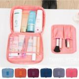 韩国便携旅行包女士防水收纳袋旅游出差必备化妆包洗漱用品 粉色